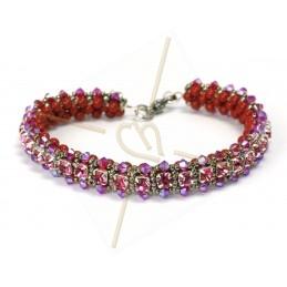 """kit du bracelet """"Nelsy"""" Rouge"""
