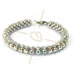 """Pack Bracelet """"Nelsy"""" Crystal AB"""