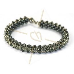 """kit du bracelet """"Nelsy"""" Gris fonce"""