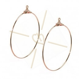 "earrings ""ronde"" 42mm"