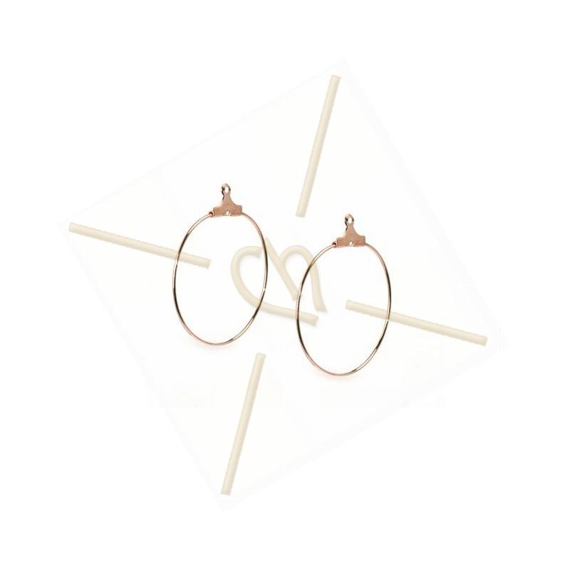 """earrings """"ronde"""" 30mm"""