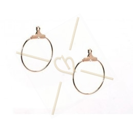 "earrings ""ronde"" 22mm"