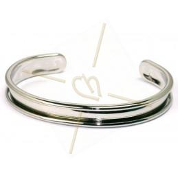 stijve armband metaal 10mm breed zilver
