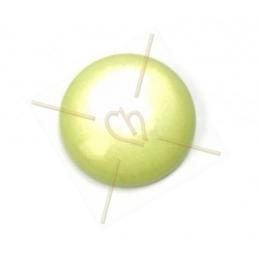Cabochon 12mm super Polaris vert poudre