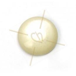 Cabochon 12mm super Polaris beige poudre