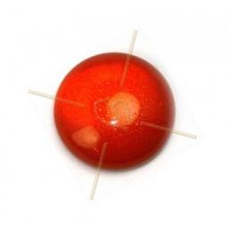 Cabochon 12mm super Polaris rouge poudre
