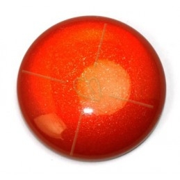 Cabochon 24mm super Polaris red poudre