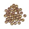 Lentils beads 6*2.5mm 2-trous Lustred Bronze Lilla