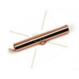 eindstukje 30mm  voor koord leder 4mm met ringetje