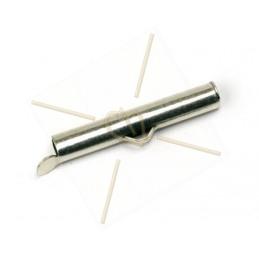eindstukje 26mm  voor koord leder 4mm met ringetje