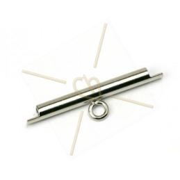 eindstukje 20mm  voor koord leder 2mm met ringetje