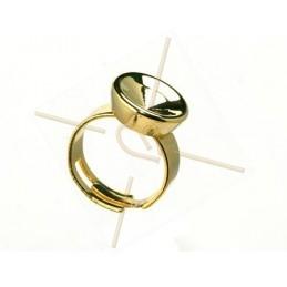 ring regelbaar met basis voor 12mm ronde steen