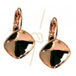earrings for 12*12mm Swarovski