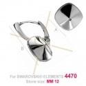 oorbellen zilver925 voor 12*12mm Swarovski