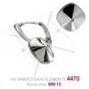 Boucles d'oreilles argent925 pour 12*12mm Swarovski