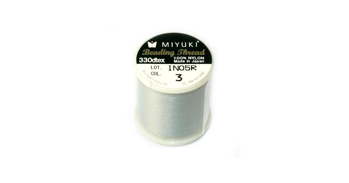 Miyuki Bead Thread Lichtgrijs