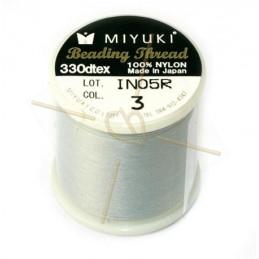 Miyuki Beading Thread Light Grey