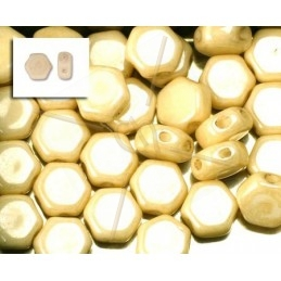 Nid d'abeille Perles Honeycomb ™ 6.5mm Chalk Beige
