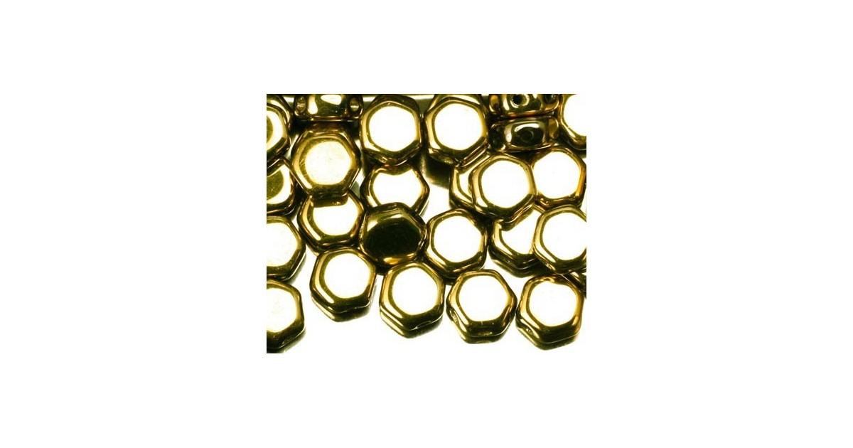 Honeycomb Beads ™ 6.5mm Full Amber