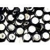 HoneyComb Beads ™ 6.5mm Hematite