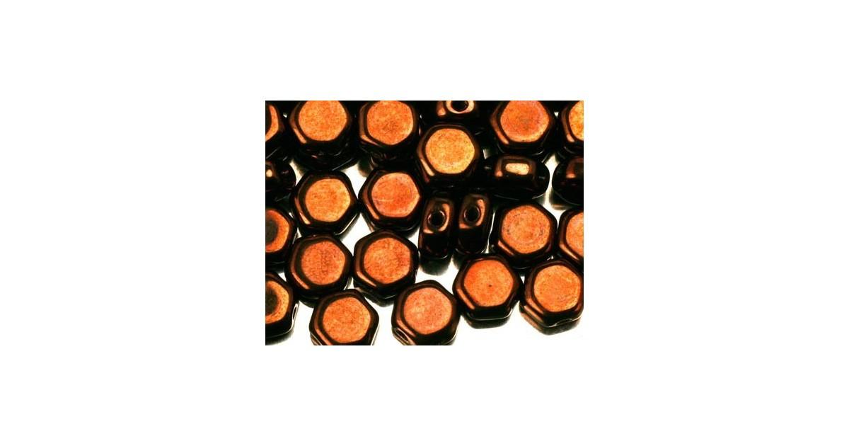 Honeycomb Beads ™ 6.5mm Jet Bronze