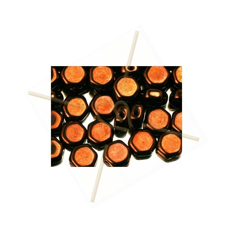 Honeycomb Beads ™ 6.5mm Jet Bronze
