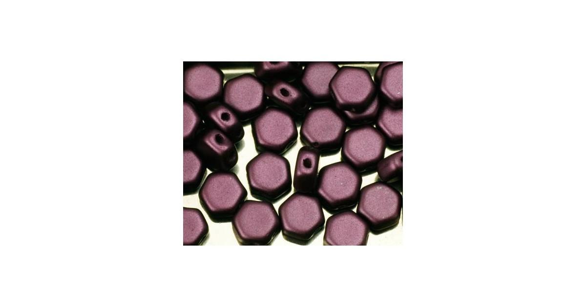 Honeycomb Beads ™ 6.5mm Pastel Bordeaux