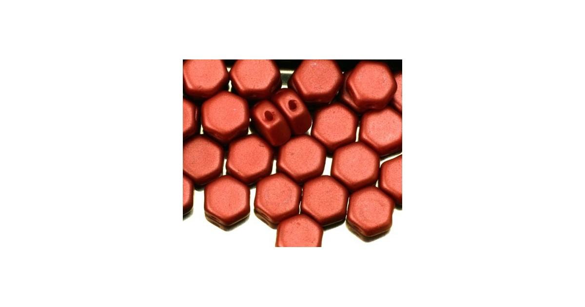 Honeycomb Beads ™ 6.5mm Pastel Dark Coral