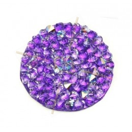 Crystal Rocks 24mm Crystal AB / Purple