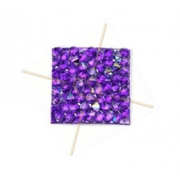 Rocks carre 15mm Cristal AB / Purple