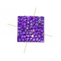 Rocks vierkant 15mm Cristal AB / purple