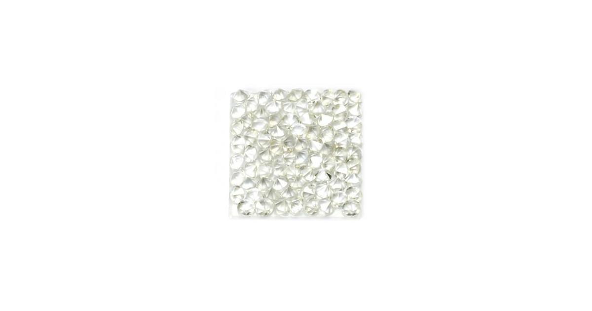 Rocks vierkant 20mm Crystal AB / wit