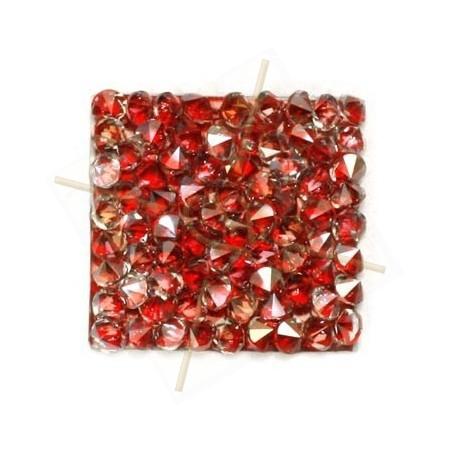Rocks vierkant 20mm silver shade / rood metallic
