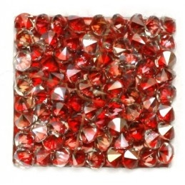 Rocks square 27mm silver shade / red metallic