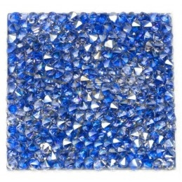 Rocks square 27mm Silver Shade / Metal. blue