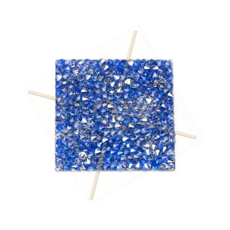 Rocks square 27mm Silver Shade / Metal. blue