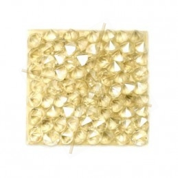 Crystal ROCKS 15mm Lt. Peach&Metal. Gold / Zwart