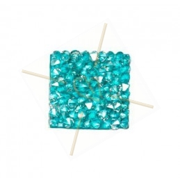 Rocks carre 15mm silver shade / aqua