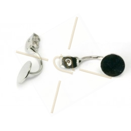 earring back with disc 8mm
