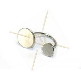 ring regelbaar metaal met 2 disc 10 en 14mm