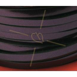 Mini-Regaliz leder 7*4.5mm hol maron