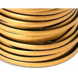 leder 5mm gold mat