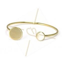 bracelet acier avec support disque 15mm + 10mm