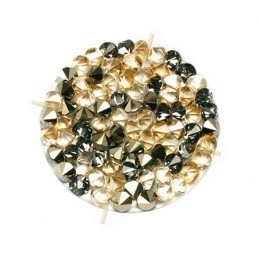 Crystal ROCKS 24mm Golden Shadow & Metall. Gold