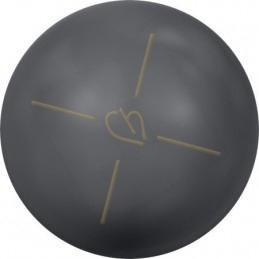 Swarovski bol 10mm half gaatje Dark Grey Pearl