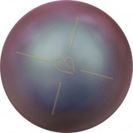 swarovski balls pearl 10 mm half pierced Iridescent Red Pearl