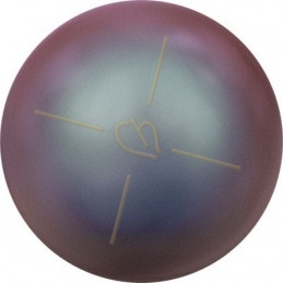 Swarovski boules nacrée 10mm demi percée Iridescent Red Pearl