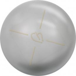 Swarovski bol 6mm half gaatje Light Grey Pearl