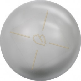 Swarovski bol 10mm half gaatje Light Grey Pearl