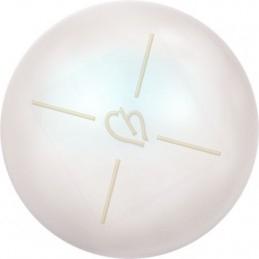 Swarovski bol 6mm half gaatje Pearlescent White Pearl